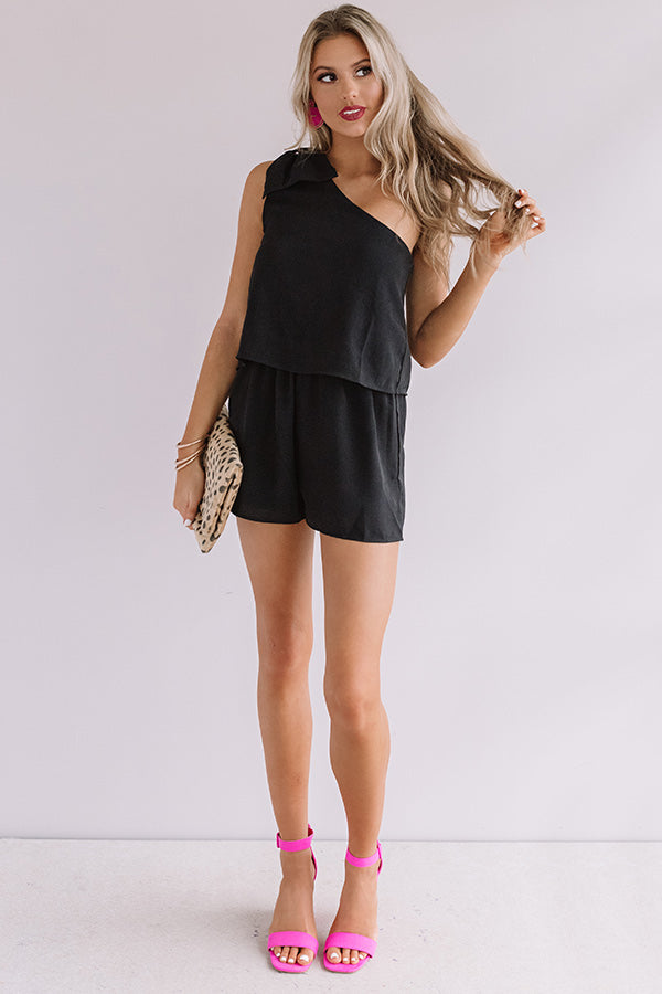 Haute In Here Romper In Black
