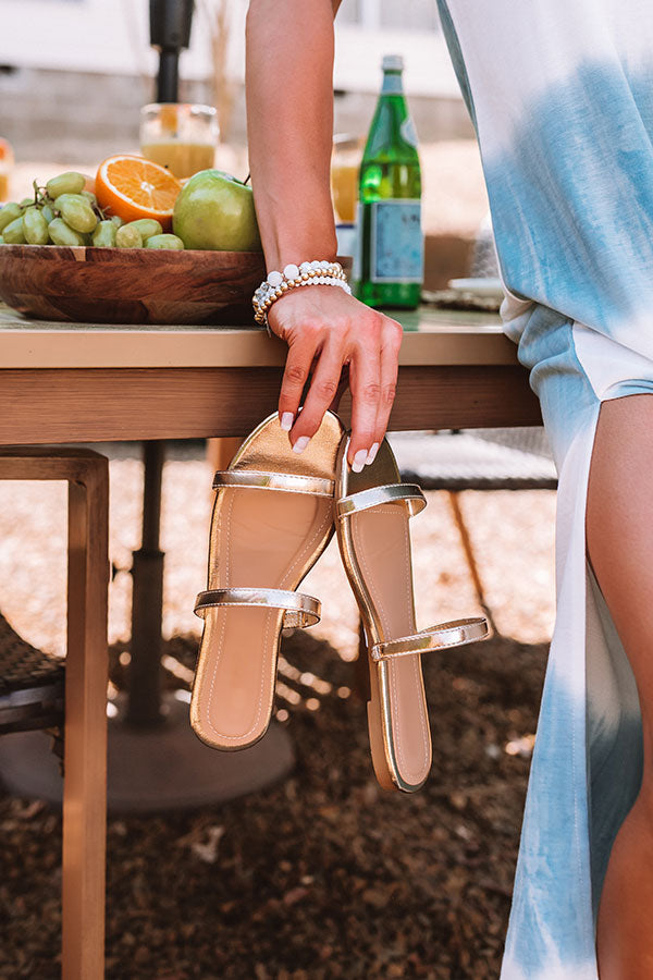 The Lyla Sandal In Gold