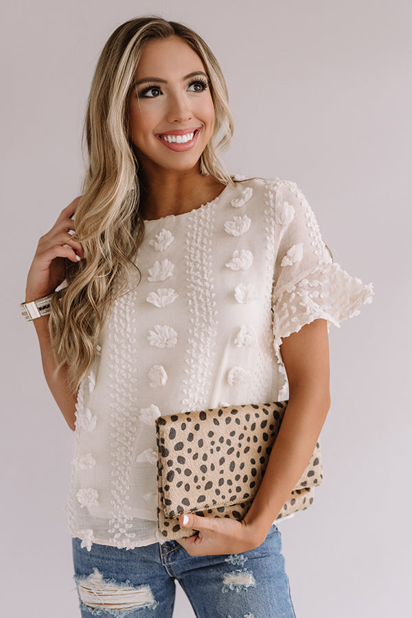 Cause For Applause Shift Top In Cream