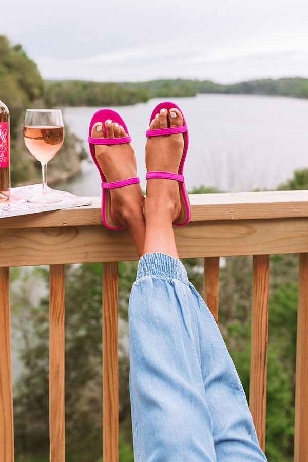 The Lyla Sandal In Hot Pink
