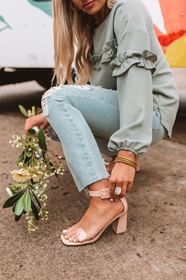 The Ariella Heel in Natural