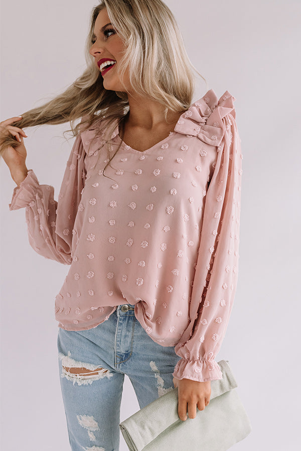 Romantic In Rome Shift Top In Light Blush