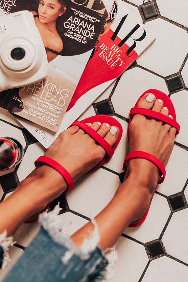 The Lyla Sandal In Red