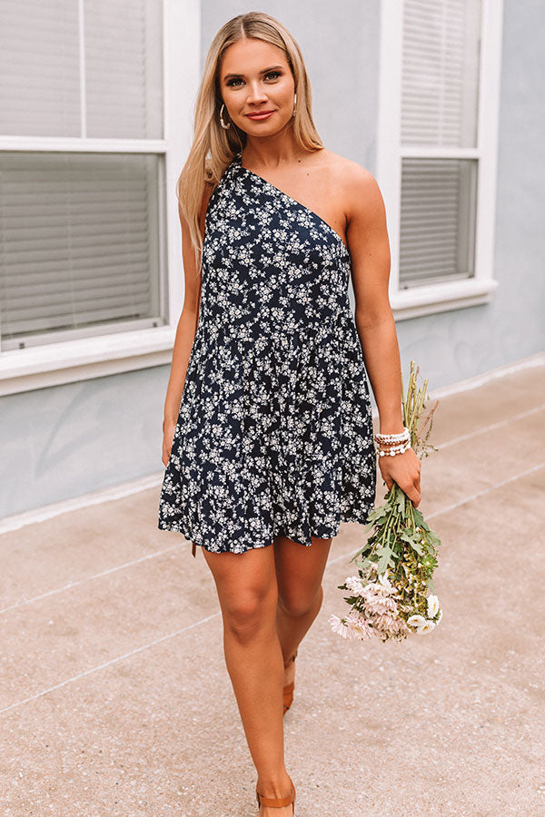 Jetting To Paradise Floral Dress in Navy