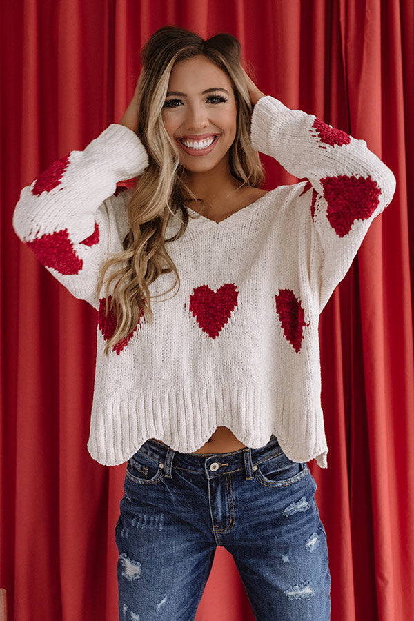Blame It On My Heart Chenille Sweater