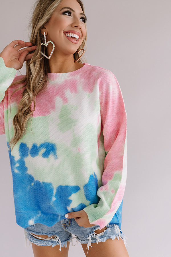 Happiness Forever Tie Dye Shift Sweater