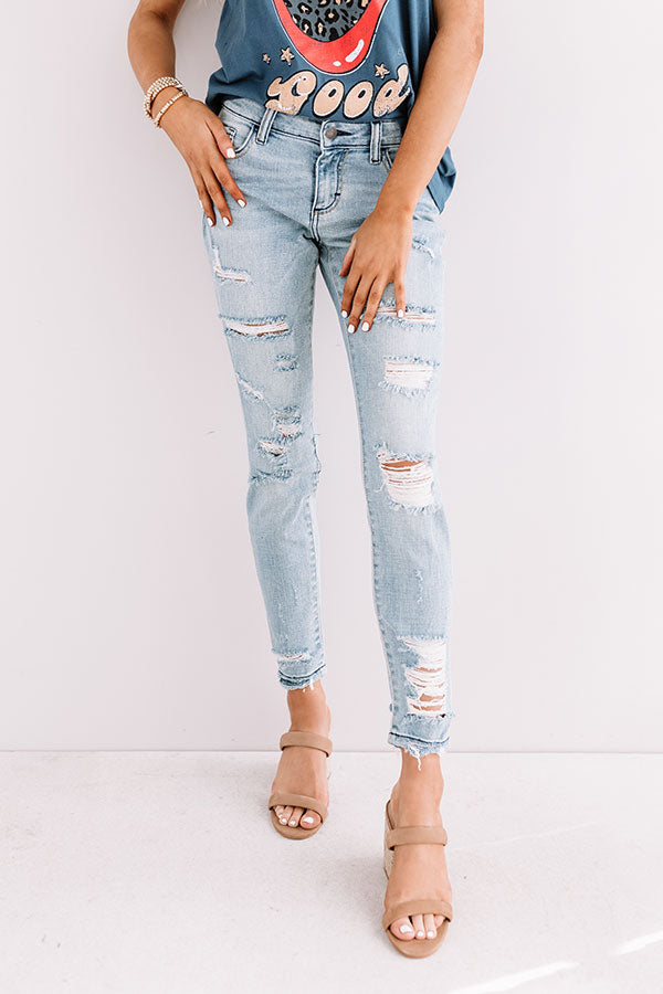 The Laurel Distressed Midrise Skinny