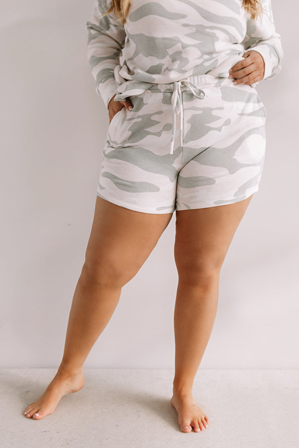 Let's Lounge Camo Shorts