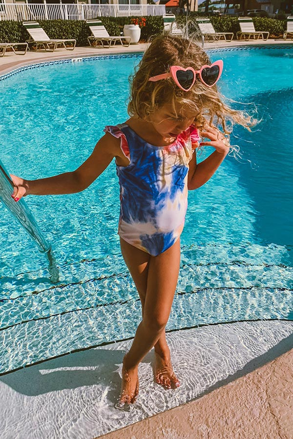 Maui Sunset Tie Dye One Piece Children's Swimsuit