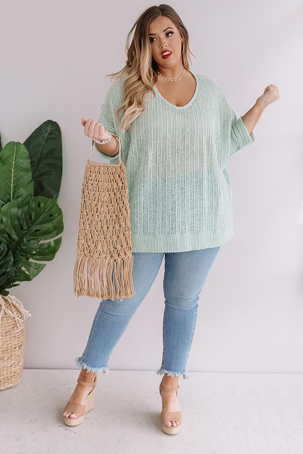 Bali Coast Knit Shift Tunic In Seaglass