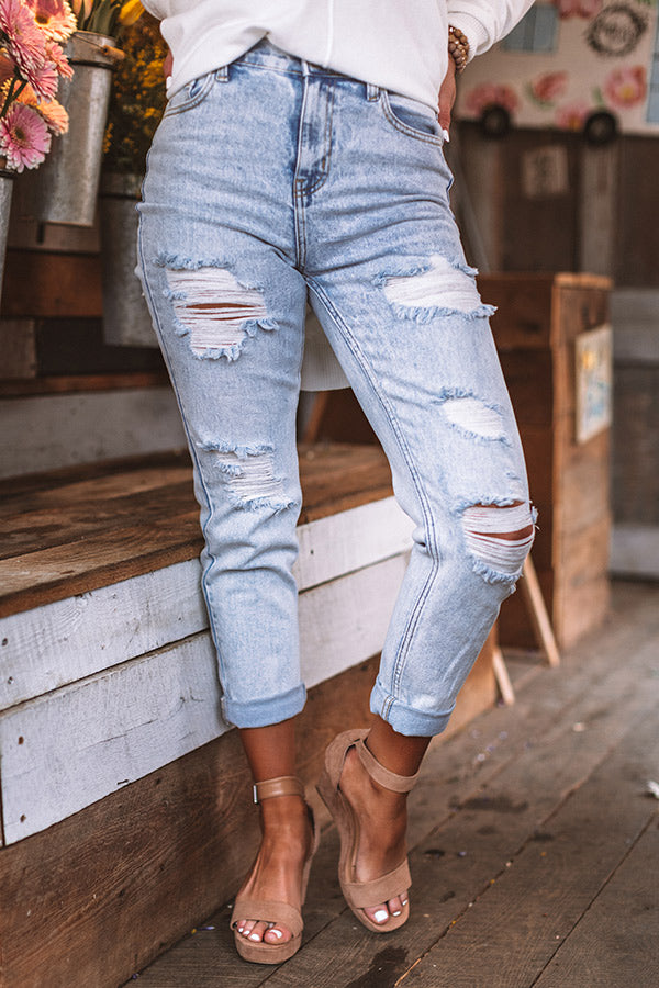 The Story High Waist Distressed Relaxed Skinny