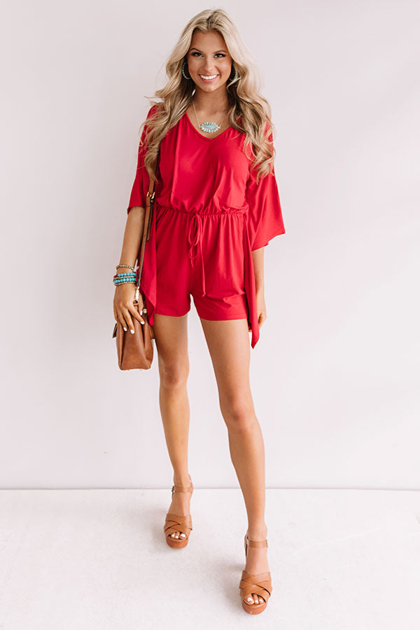 Cute As Can Be Romper In Red