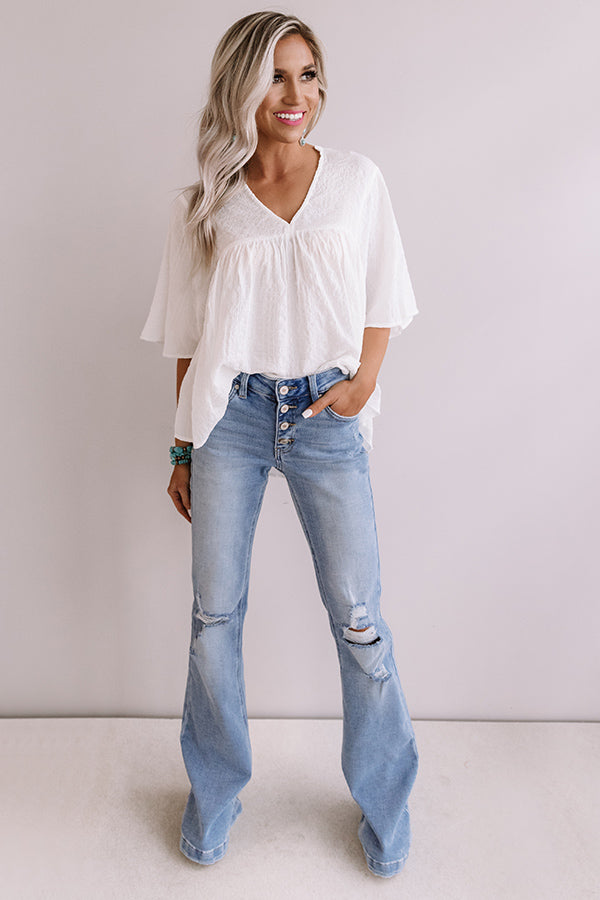 The Nikky Distressed Midrise Flare