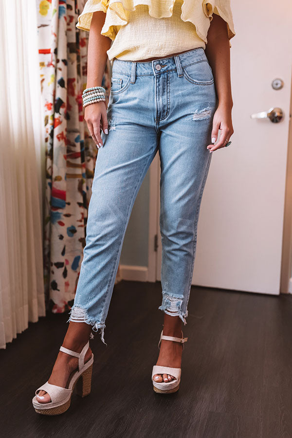The Eloise High Waist Distressed Relaxed Skinny