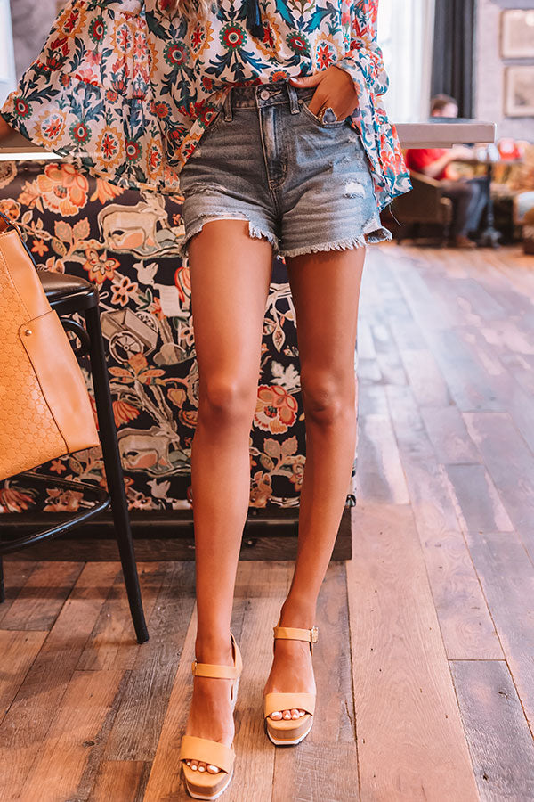 The Torran High Waist Distressed Shorts