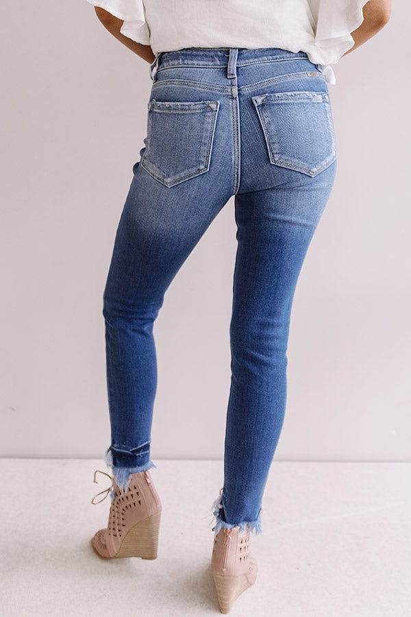 The Bryant High Waist Frayed Ankle Skinny