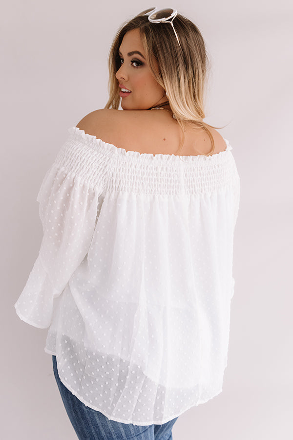 Paris Premiere Off Shoulder Shift Top