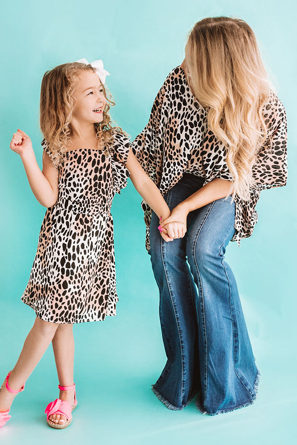 Star Of The Show Children's Cheetah Print Dress