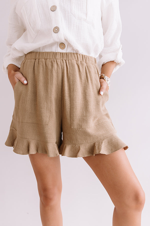 Party Of Two Shorts In Khaki