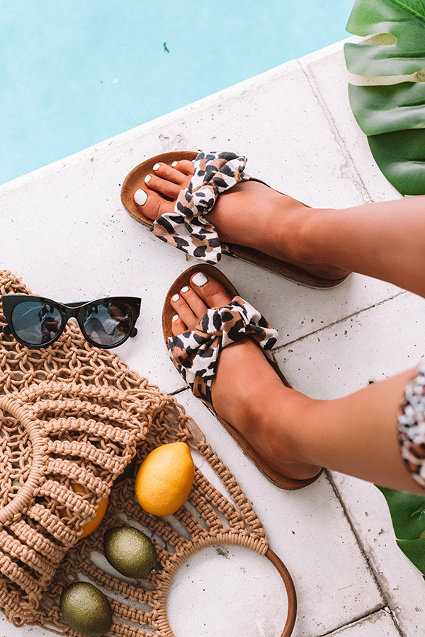 The Hannah Leopard Sandal
