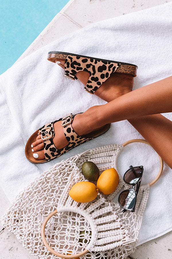 The Aimee Leopard Sandal