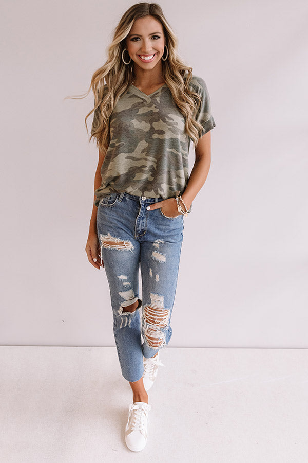 Cool In Cali Camo Shift Top