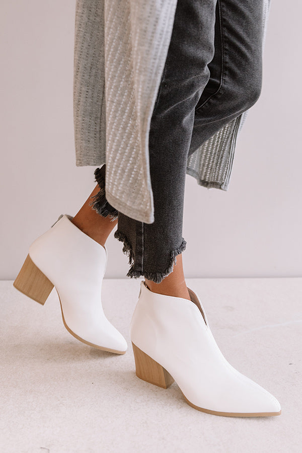 The Poppy Faux Leather Bootie