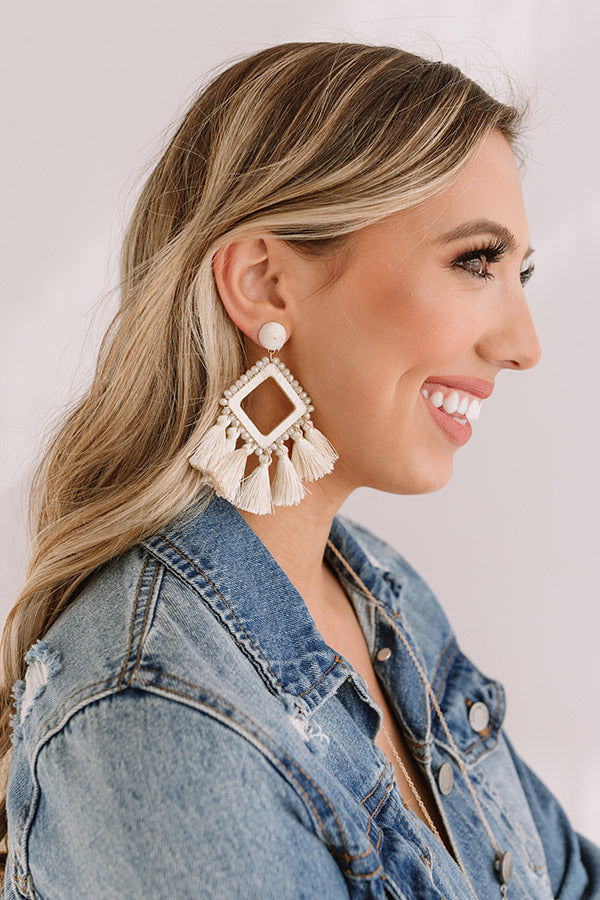 Jetset To Hawaii Earrings In Cream