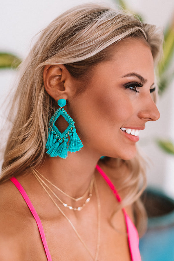 Jetset To Hawaii Earrings In Turquoise