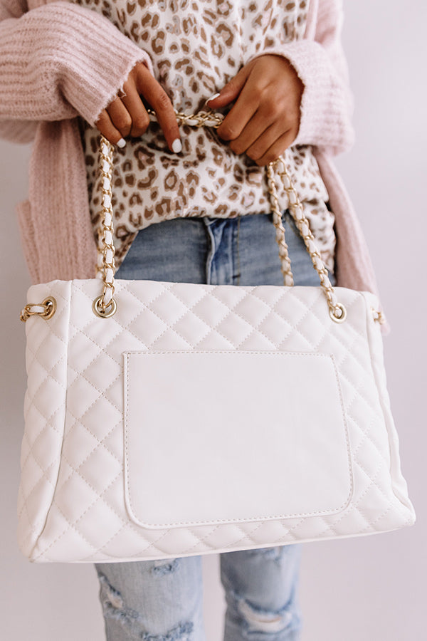 Paris Premier Quilted Tote In Ivory