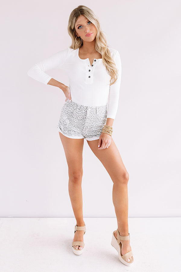 The Angelina High Waist Leopard Shorts