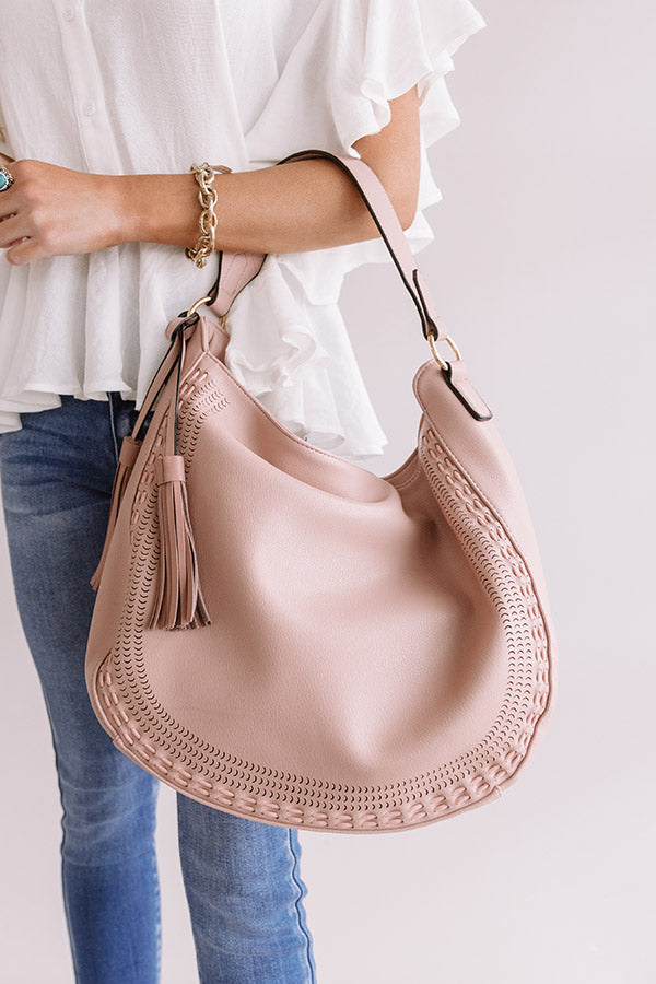 Sweet As Pie Faux Leather Tote in Blush