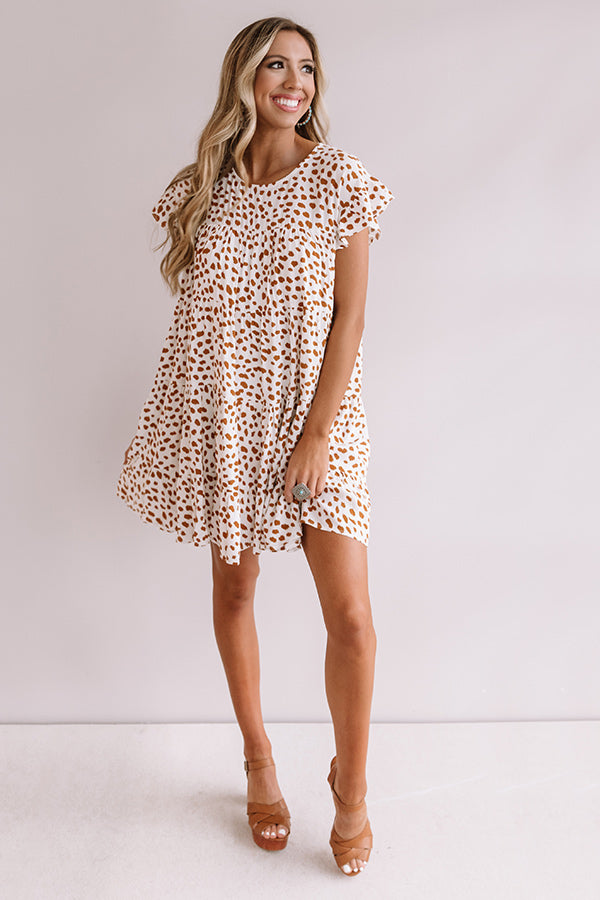 Southern Sunset Babydoll Dress In Cream