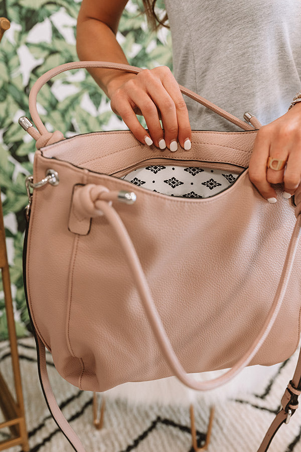 Joy For Days Faux Leather Tote in Blush