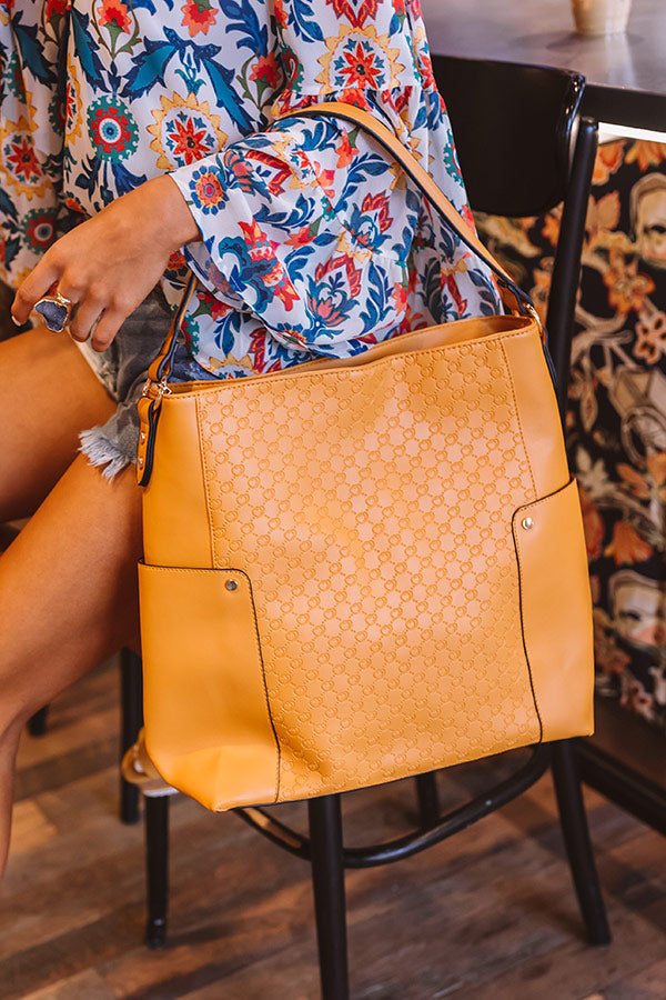 Steal Your Heart Faux Leather Tote in Golden Honey