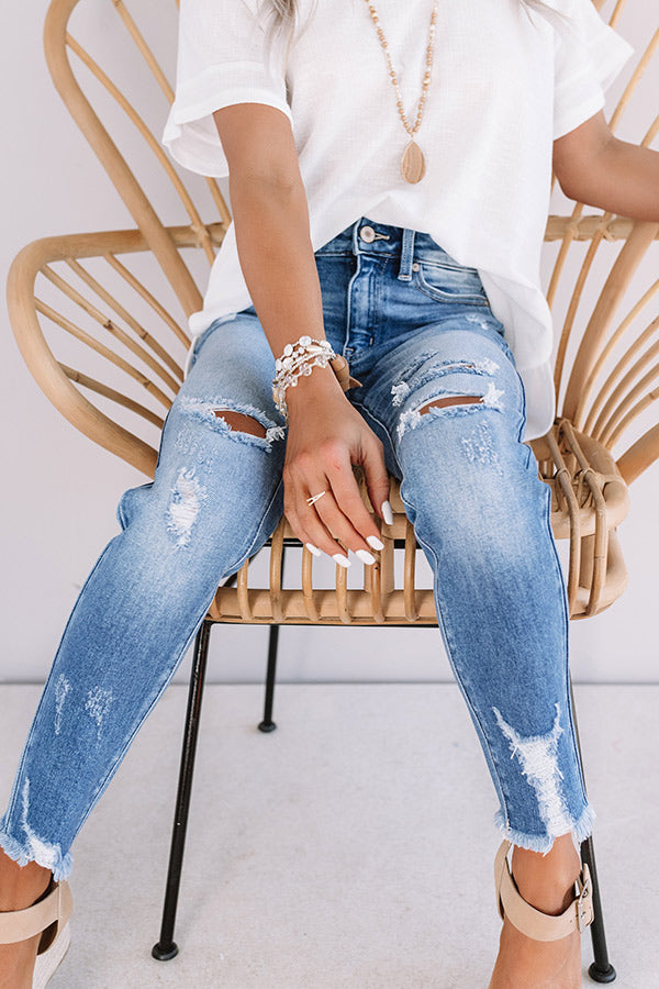 The Kent High Waist Distressed Skinny