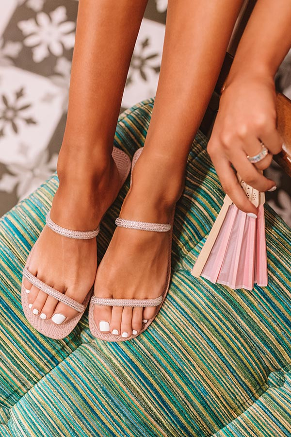 The Ruby Sandal In Blush