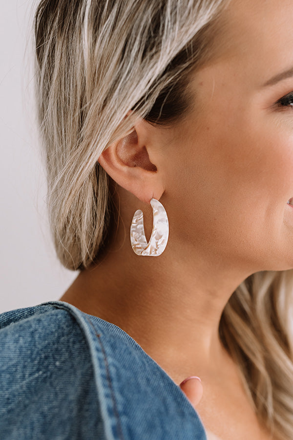 Tide Pool Hoop Earrings