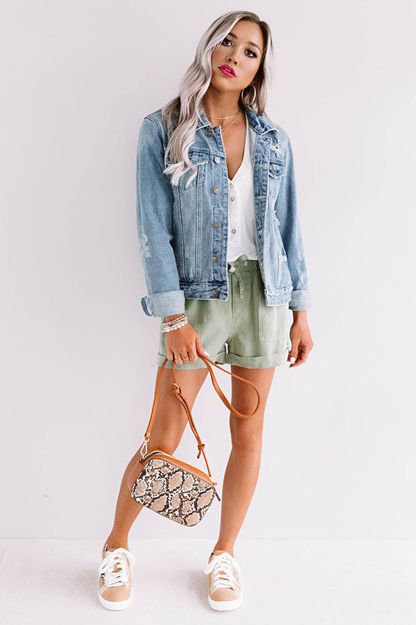The Brooke Distressed Denim Jacket