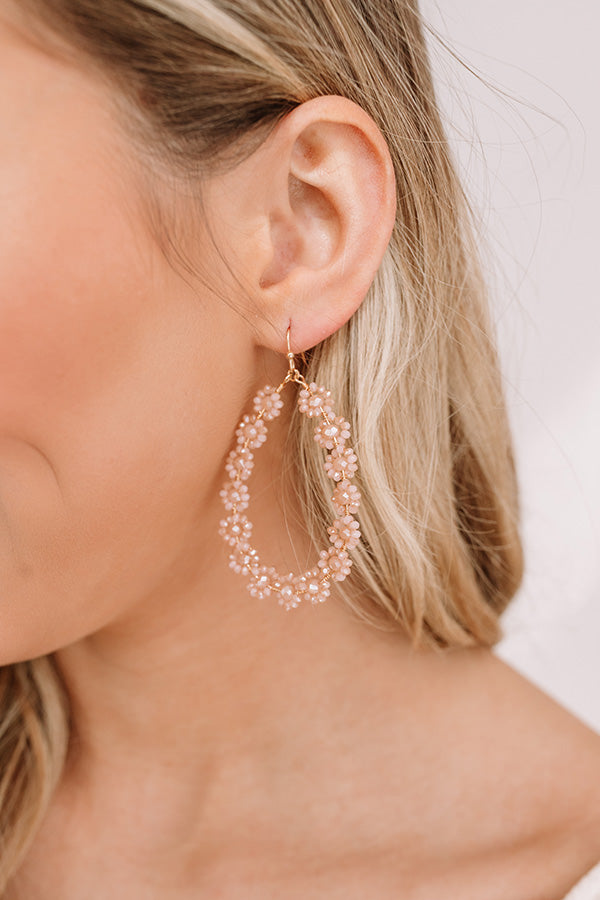 Sun-Sational Beaded Earrings In Champagne