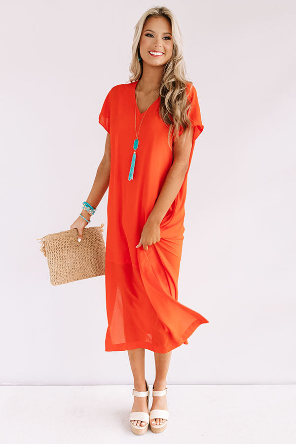 Margs In The Maldives Maxi In Tangerine