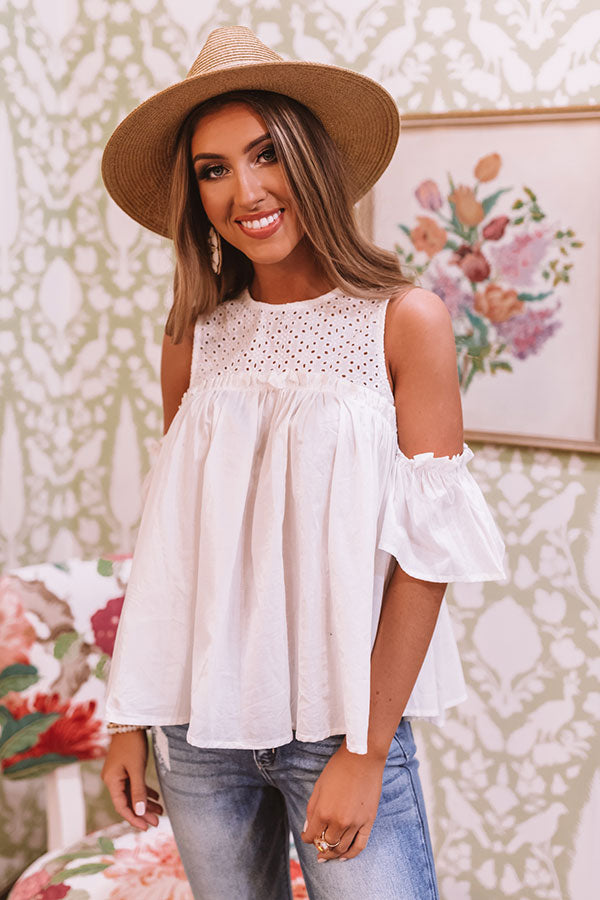 Baja Beautiful Babydoll Top In White