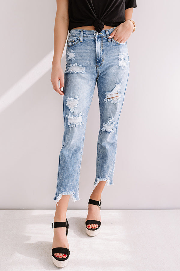 The Mckenna High Waist Relaxed Skinny In Light Wash