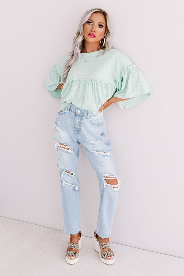The Charlie High Waist Distressed Mom Jean