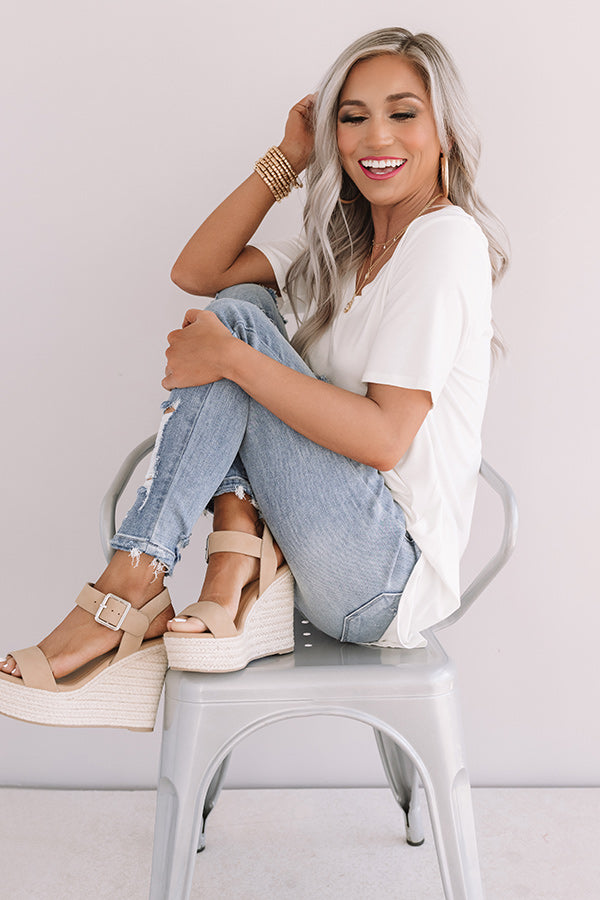 The Ariella Midrise Distressed Ankle Skinny