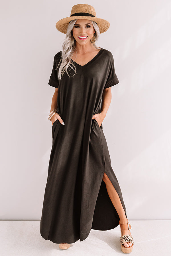 Buena Vista Vacay T-Shirt Maxi In Black