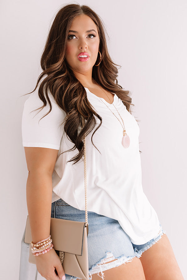 Coastal Chic Shift Tee In White