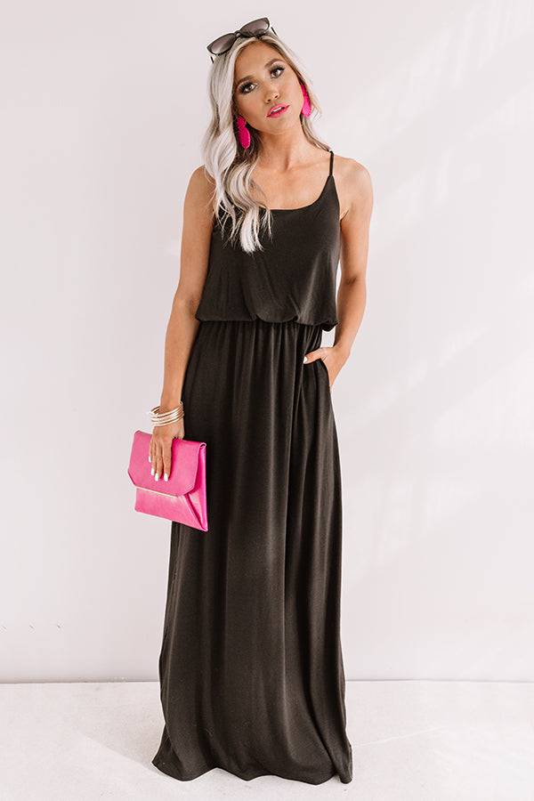 Beachy Babe Maxi In Black