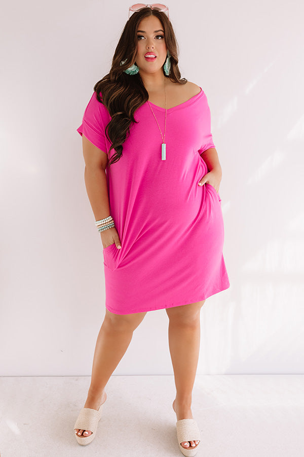Macarons In Manhattan T-Shirt Dress In Pink