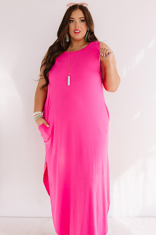 Pretty Prophecy Maxi In Hot Pink